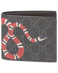 Gucci Kingsnake GG Supreme Canvas Bifold Wallet - Multicolour