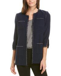 St. John Wool-blend Jacket - Blue
