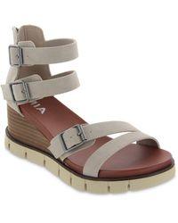 MIA Darcel Wedge Sandal - Grey