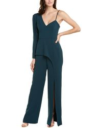 BCBGMAXAZRIA One-shoulder Jumpsuit - Green