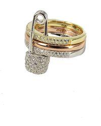 Apm Monaco Silver Cz Ring - Metallic