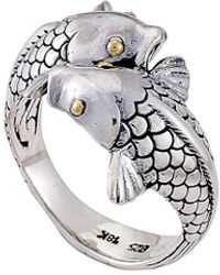 Samuel B. 18k & Silver Bypass Koi Fish Ring - Metallic