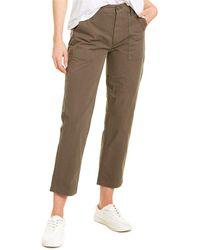 Joe's Jeans Army Green Utility Straight Crop Jean