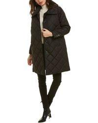 Jane Post Diamond Quilted Coat - Black