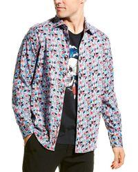 Robert Graham Francesco Woven Shirt - Blue