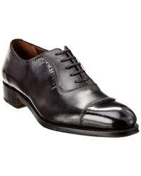 Ferragamo Plain Toe Oxford Shoe - Black