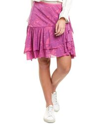 Diane von Furstenberg Paloma Mesh Mini Skirt - Purple