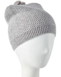 Phenix Cashmere Knit Hat - Gray