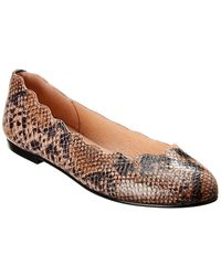 French Sole - Razor Snake-embossed Leather Flat - Lyst