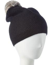 Phenix Cashmere Knit Hat - Black