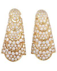 Cartier - Cartier 18k 5.50 Ct. Tw. Diamond Drop Earrings - Lyst