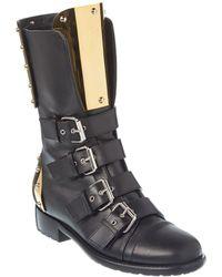 Giuseppe Zanotti Leather Boot - Black
