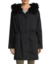 Yves Salomon - Shearling Trimmed Parka - Lyst