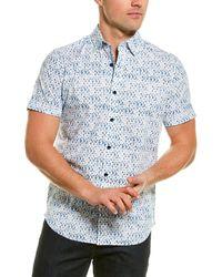Robert Graham Delmon Woven Shirt - Blue