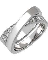 Cartier Cartier 18k 1.00 Ct. Tw. Diamond Nouvelle Vague Size 8.75 Ring - Metallic