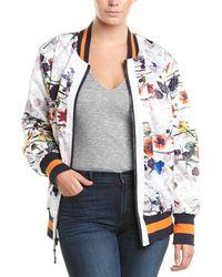 Rachel Roy Rachel Plus Floral Bomber Jacket - Multicolor