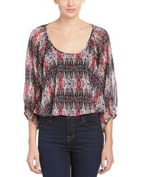 Lucca Couture Sheer Blouse - Red