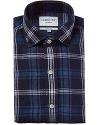 Ledbury Medlin Linen Classic Fit Dress Shirt - Blue