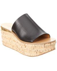 Chloé Camille Leather Platform Wedge Sandal - Multicolour