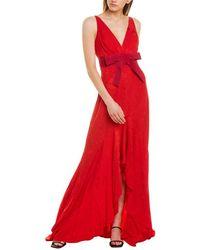Silvia Tcherassi La Pollera Colorada Maxi Dress - Red