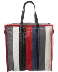 Balenciaga Bazar Medium Leather Shopper Tote - Black