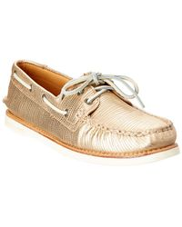 Sperry Top-Sider A/o Leather Boat Shoe - Metallic