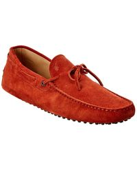 Tod's Gommino Suede Loafer - Orange