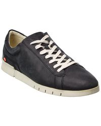 Softinos Softinos By Fly London Cer Leather Trainer - Black