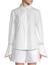 White Story - Flare Cuff Shirt - Lyst