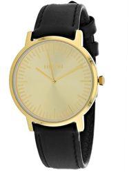Nixon Porter Leather Watch - Metallic