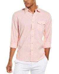Grayers Gingham Seersucker Shirt - Pink