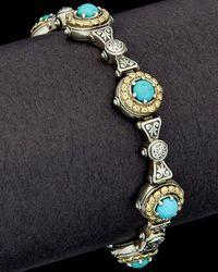 Konstantino Hermione 18k & Silver 2.75 Ct. Tw. Turquoise Bracelet - Multicolour