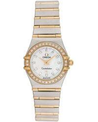 Omega Omega Constellation Diamond Watch - Metallic