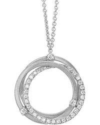 Marco Bicego Goa 18k 0.29 Ct. Tw. Diamond Collar Necklace - Metallic