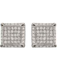 Splendid Rhodium Over Silver Earrings - Metallic