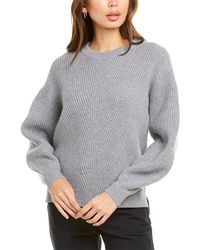 Velvet By Graham & Spencer Ribbed Wool & Cashmere-blend Jumper - Grey