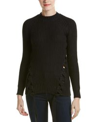 StyleStalker - Granite Lace-up Jumper - Lyst