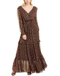 Diane von Furstenberg Winnie Silk-metallic Gown - Black