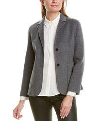 Theory Shrunken Wool & Cashmere-blend Jacket - Gray
