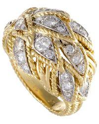 Heritage Van Cleef & Arpels - Van Cleef & Arpels 18k Two-tone 0.65 Ct. Tw. Diamond Ring - Lyst