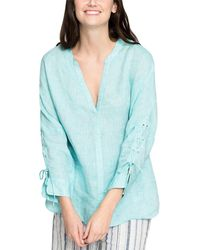 NIC+ZOE - Cliff View Linen Top - Lyst