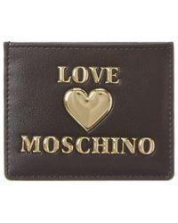 Love Moschino Card Case - Black