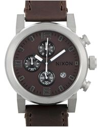 Nixon Leather Watch - Multicolour