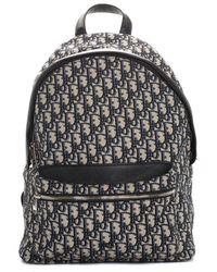 Dior 2020 Grey Canvas Oblique Rider Backpack - Multicolour