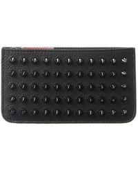 Christian Louboutin Leather Card Case - Black
