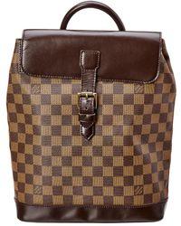 9ceef24918e3 Lyst - Louis Vuitton Randonnée Cloth Backpack in Brown