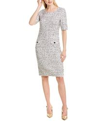 St. John Wool-blend Sweaterdress - White