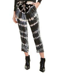 Young Fabulous & Broke Velvet Luxe Silk-blend Pant - Green
