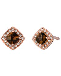 Le Vian ? 14k Rose Gold 0.50 Ct. Tw. Diamond & Smoky Quartz Earrings - Multicolor