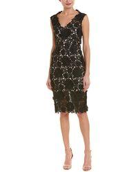 MILLY Mari Sheath Dress - Black